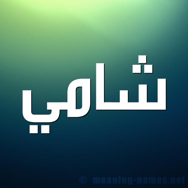 صورة اسم شامي SHAMI شكل 1 صوره للإسم بخط عريض