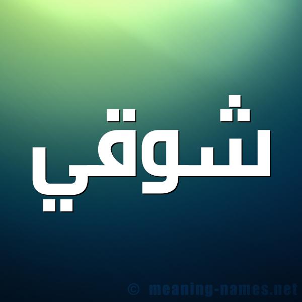 صورة اسم شوقي Shwky شكل 1 صوره للإسم بخط عريض