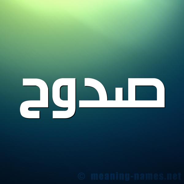شكل 1 صوره للإسم بخط عريض صورة اسم صدوح Sdwh