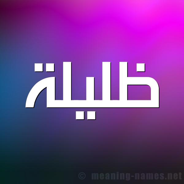 صورة اسم ظليلة Zlylh شكل 1 صوره للإسم بخط عريض