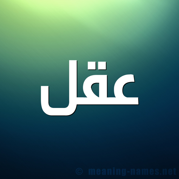 صورة اسم عقل Aql شكل 1 صوره للإسم بخط عريض