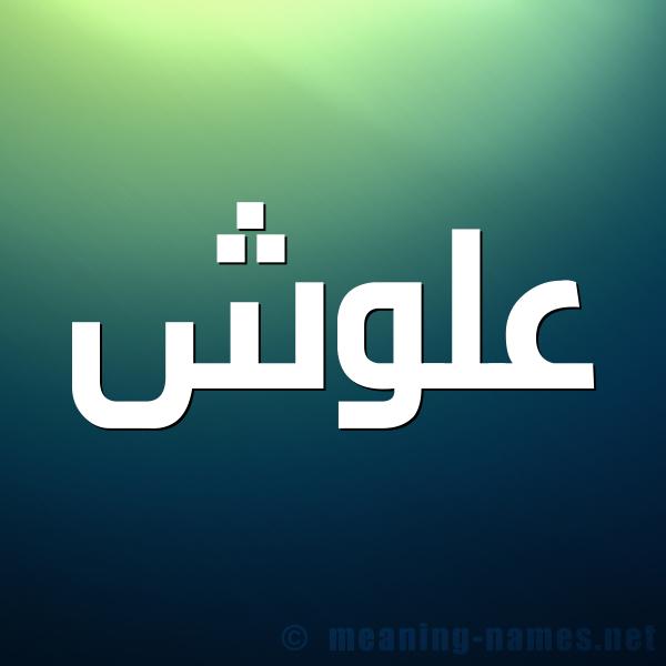 شكل 1 صوره للإسم بخط عريض صورة اسم علوش Alwsh