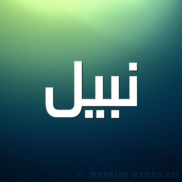 صورة اسم نبيل Nabil شكل 1 صوره للإسم بخط عريض