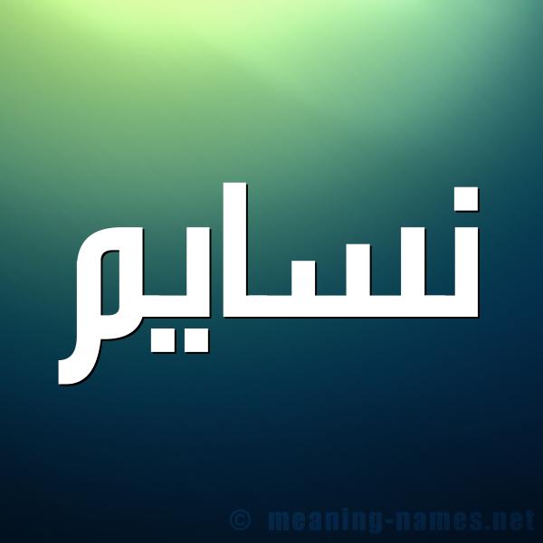شكل 1 صوره للإسم بخط عريض صورة اسم نسايم Nsaim