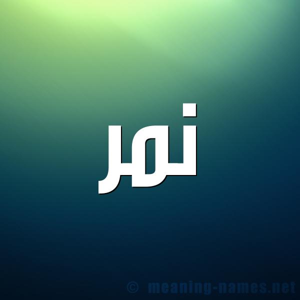 صورة اسم نمر Nmr شكل 1 صوره للإسم بخط عريض