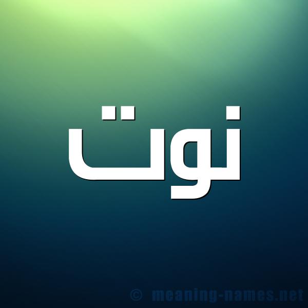 صورة اسم نوت Nwt شكل 1 صوره للإسم بخط عريض