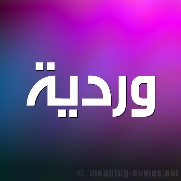 شكل 1 صوره للإسم بخط عريض صورة اسم وردية WARDIA