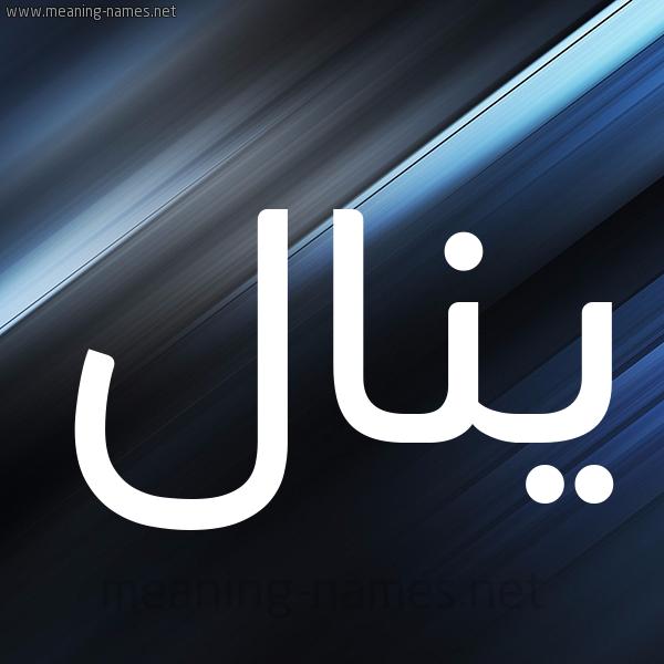 شكل 3 صوره ديجيتال للإسم بخط عريض صورة اسم يَنال Yanal