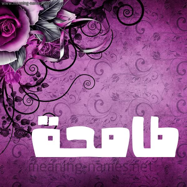 شكل 5 صوره زخرفة وورده للإسم بخط عريض صورة اسم طامحة TAMHH