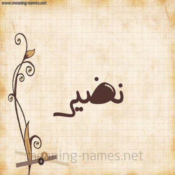 شكل 6 صوره ورق كلاسيكي للإسم بخط عريض صورة اسم نَضير NADIR