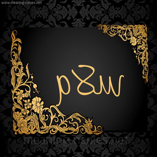 صورة اسم سَلاّم SALAM شكل 7 صوره اطار ذهبي مزخرف للإسم بخط عريض