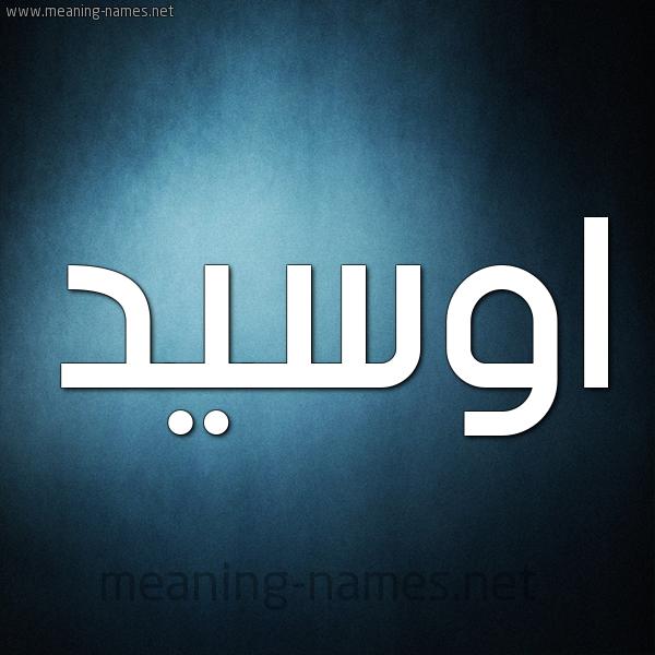 صورة اسم اوسيد ouseed شكل 9 صوره ديجيتال للإسم بخط عريض