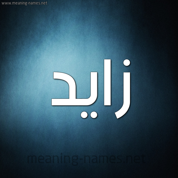 صورة اسم زايد Zaid شكل 9 صوره ديجيتال للإسم بخط عريض