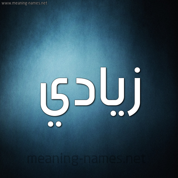 صورة اسم زيادي Zyady شكل 9 صوره ديجيتال للإسم بخط عريض