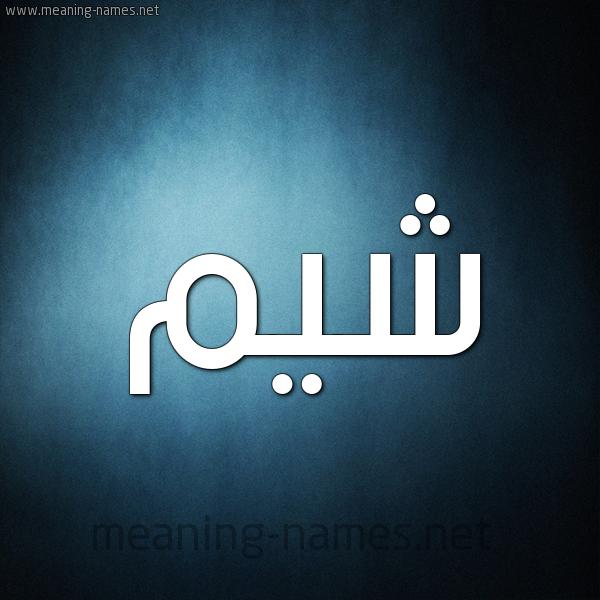 صورة اسم شيم Shym شكل 9 صوره ديجيتال للإسم بخط عريض