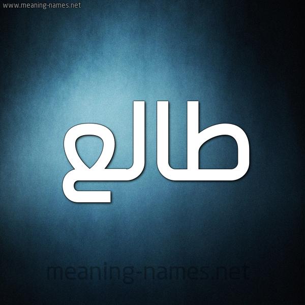"""صورة اسم طالع Tal"""" شكل 9 صوره ديجيتال للإسم بخط عريض"""