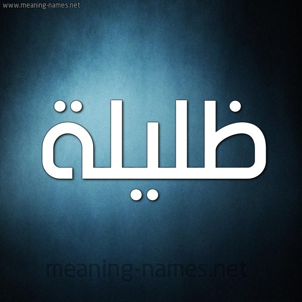 صورة اسم ظليلة Zlylh شكل 9 صوره ديجيتال للإسم بخط عريض