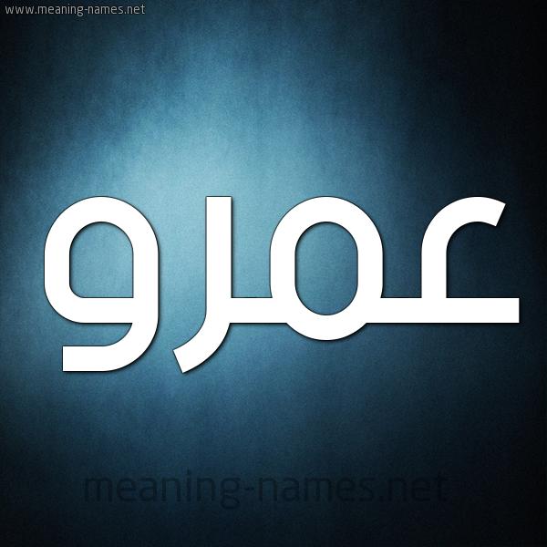 صورة اسم عمرو Amr شكل 9 صوره ديجيتال للإسم بخط عريض