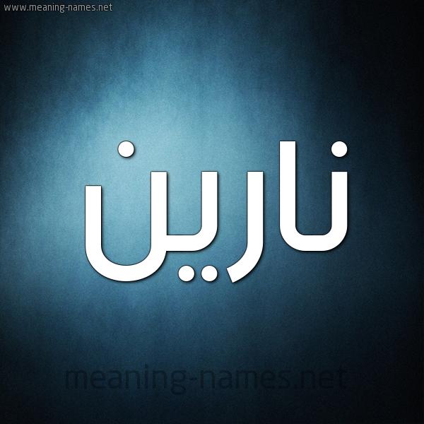 صورة اسم نارين Narin شكل 9 صوره ديجيتال للإسم بخط عريض