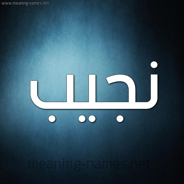صورة اسم نجيب Nagib شكل 9 صوره ديجيتال للإسم بخط عريض