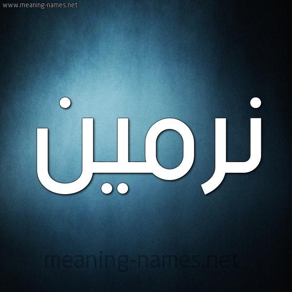 صورة اسم نِرْمين Nermen شكل 9 صوره ديجيتال للإسم بخط عريض