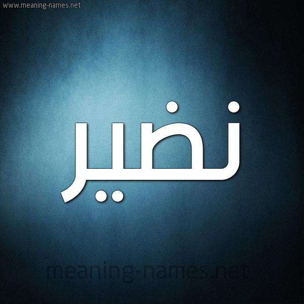 شكل 9 صوره ديجيتال للإسم بخط عريض صورة اسم نَضير NADIR