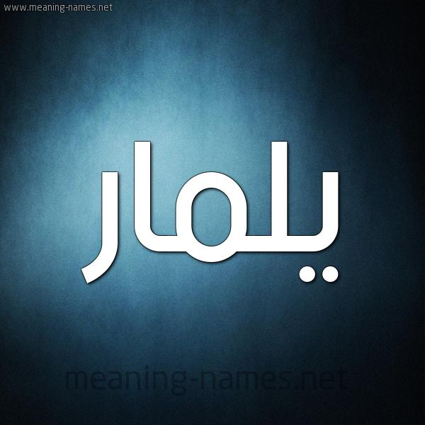 صورة اسم يلمار yLamar شكل 9 صوره ديجيتال للإسم بخط عريض