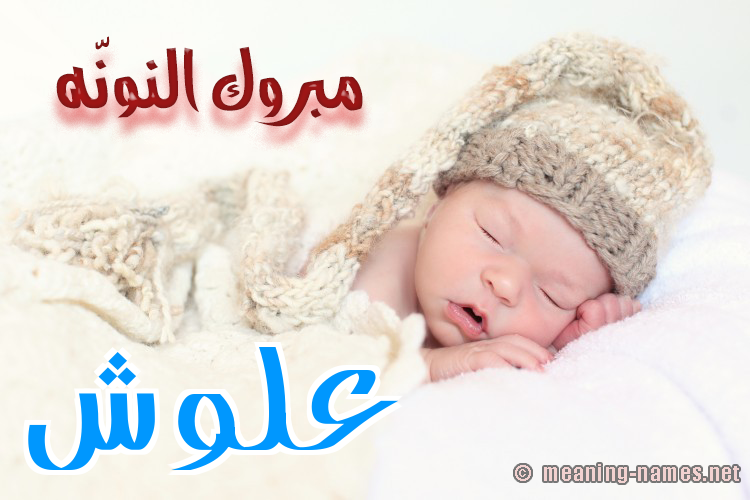 كارت مبروك النونّه صورة اسم علوش Alwsh