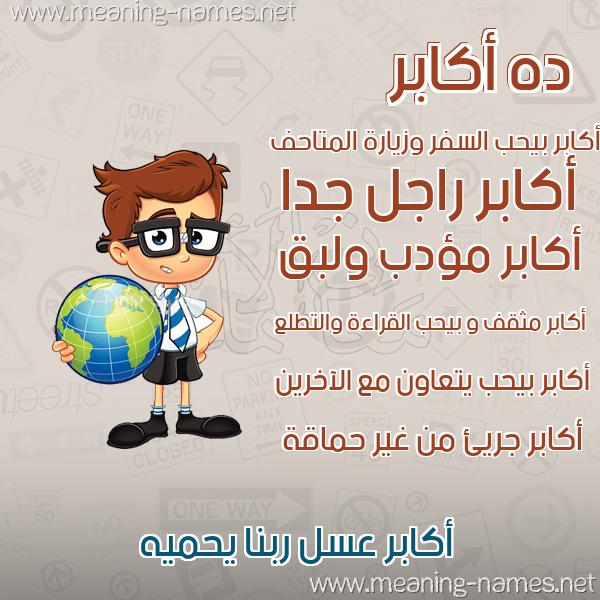 صورة اسم أكابر AKABR صور أسماء أولاد وصفاتهم