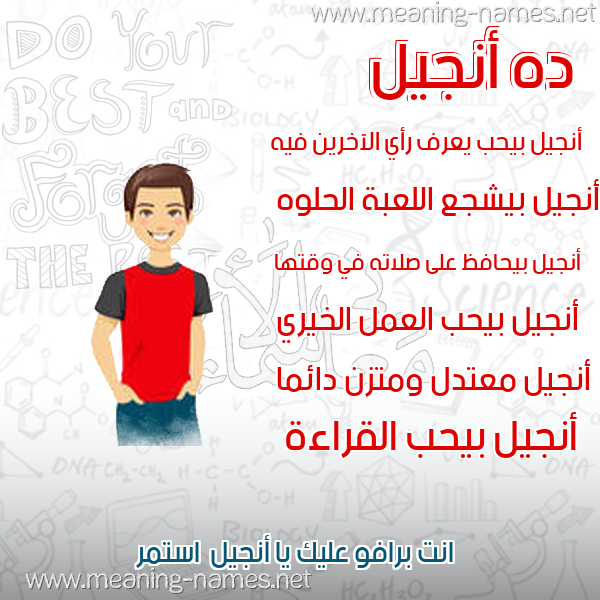 صورة اسم أنجيل ANGIL صور أسماء أولاد وصفاتهم