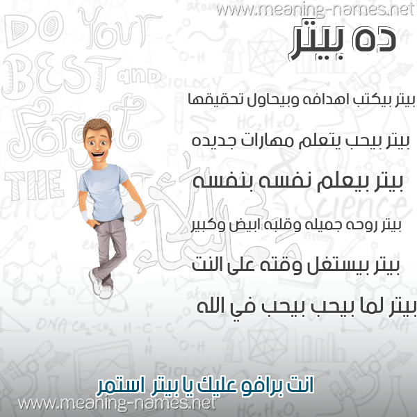 صورة اسم بيتر Beter صور أسماء أولاد وصفاتهم