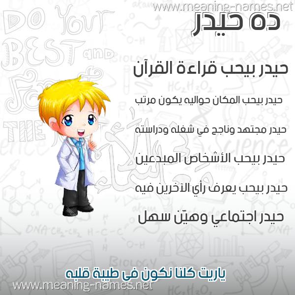 صورة اسم حيدر Hydr صور أسماء أولاد وصفاتهم