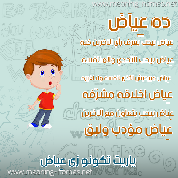 صورة اسم عِياض AEIAD صور أسماء أولاد وصفاتهم