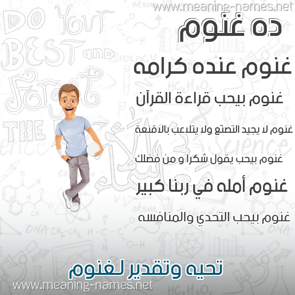 صورة اسم غنوم Ghnwm صور أسماء أولاد وصفاتهم