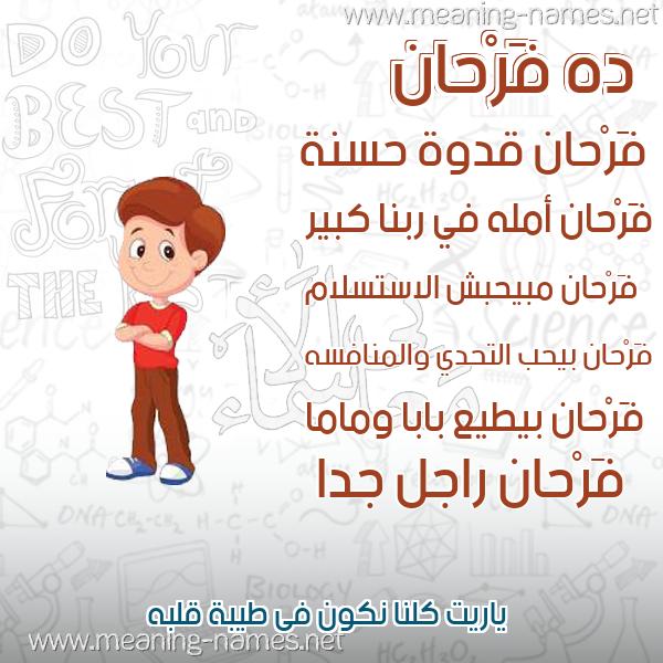 صورة اسم فَرْحان FARHAN صور أسماء أولاد وصفاتهم