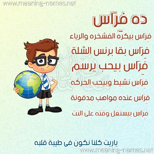 صور أسماء أولاد وصفاتهم صورة اسم فِرَاس Feras
