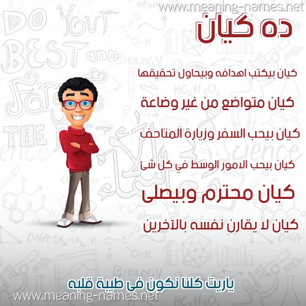 صورة اسم كيان Kayan صور أسماء أولاد وصفاتهم