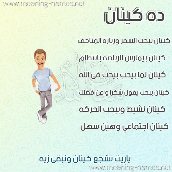 صورة اسم كينان Kenan صور أسماء أولاد وصفاتهم