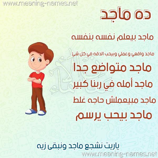 صورة اسم ماجد Maged صور أسماء أولاد وصفاتهم