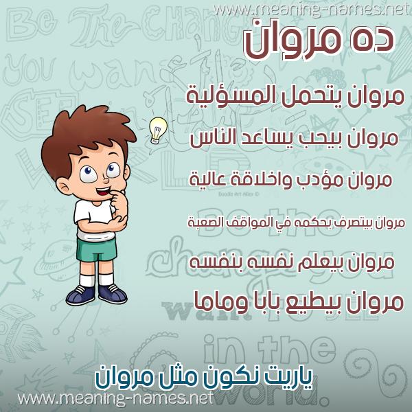 صورة اسم مروان Marwan صور أسماء أولاد وصفاتهم