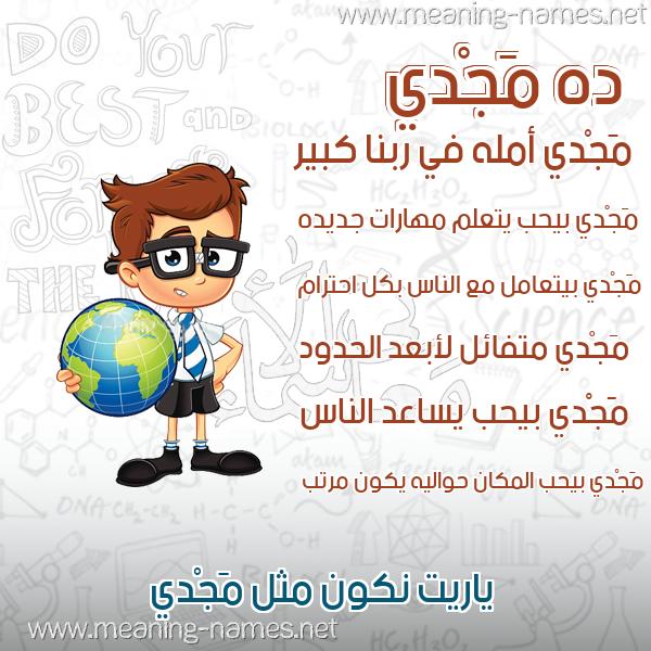 صورة اسم مَجْدي MAGDI صور أسماء أولاد وصفاتهم