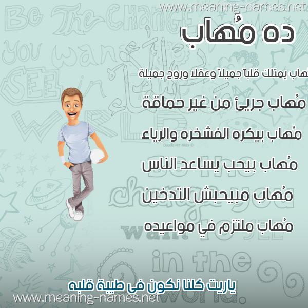 صورة اسم مُهاب MOHAB صور أسماء أولاد وصفاتهم