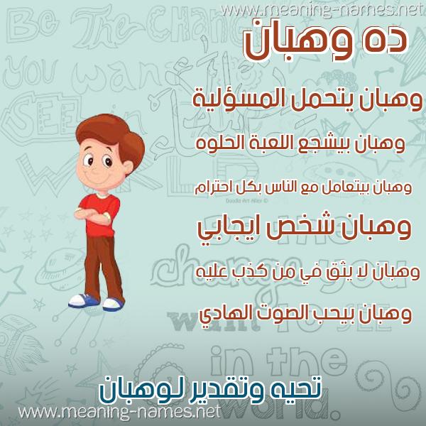صور أسماء أولاد وصفاتهم صورة اسم وهبان Whban