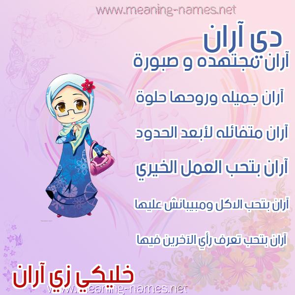 صورة اسم آران ARAN صور اسماء بنات وصفاتهم