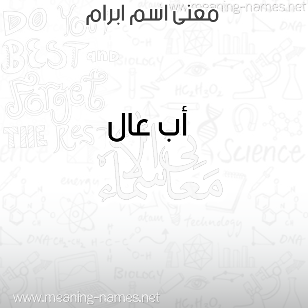 صورة اسم ابرام Ibram معاني الأسماء على صورة
