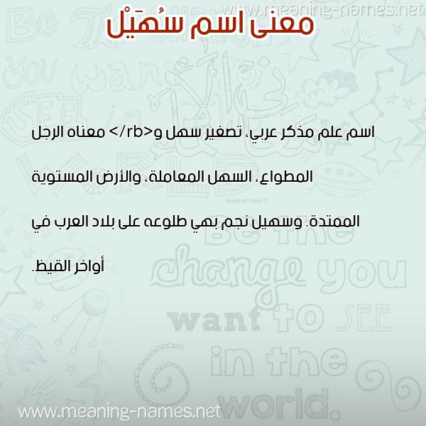 صورة اسم سُهَيْل SOHAIL معاني الأسماء على صورة