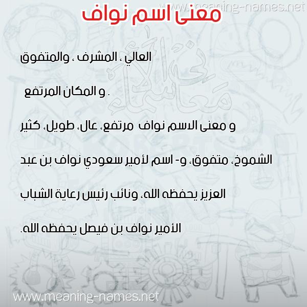 معاني الأسماء على صورة صورة اسم نواف Nwaf