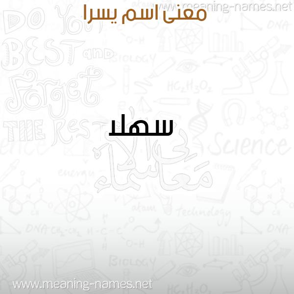 صورة اسم يسرا ISRA معاني الأسماء على صورة